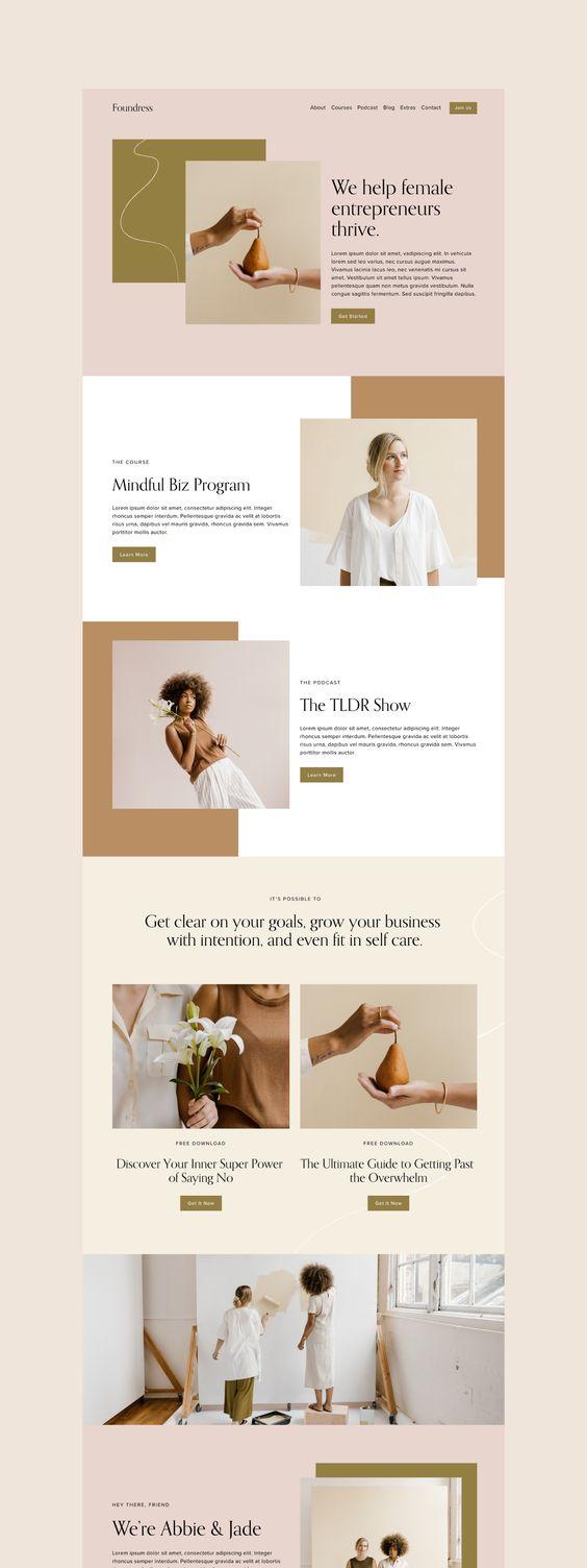 图片与色块错位排版在网页设计中的应用案例